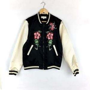 Young Bohemian Bomber Jacket Size 14 Womens Floral